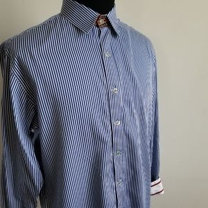 Robert Graham Blue & White Stripe Button Up Shirt